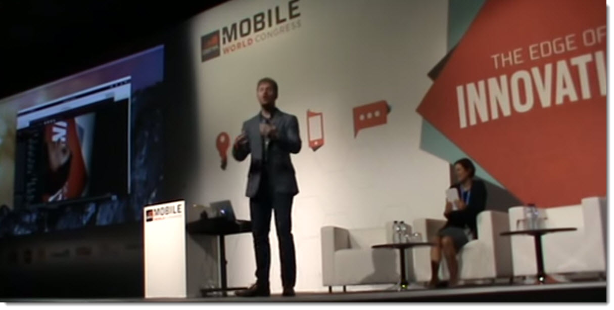 James Lyne on stage MWC15